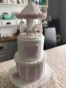 Carousel tiered cakes - blacks creative cupcakes - local cake maker
