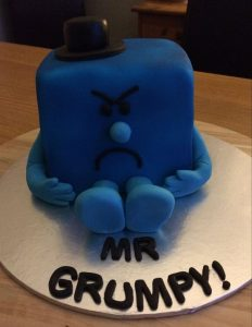 Mr Grumpy cake - mr men cake - celebration cake - berwick upon tweed - cake maker
