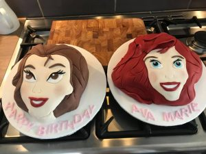 Princess cakes -belle cake - ariel cake - birthday cakes - celebration cakes - berwick upon tweed cake maker
