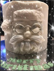 Santa cake - santa face - christmas cake - celebration cake - local cake maker - berwick upon tweed - blacks creative cupcakes