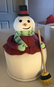 snowman cake - broom - novelty cake - birthday cake - christmas cake - berwick upon tweed - novelty cake maker