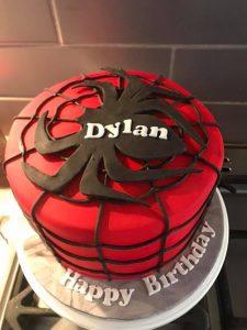 Spiderman cakes - birthday cakes - celebration cakes - blacks creative cupcakes