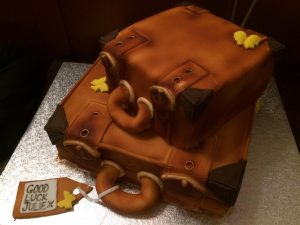 Suitcase cakes - good luck cakes - birthday cakes - all occasion cakes - berwick upon tweed - cake maker