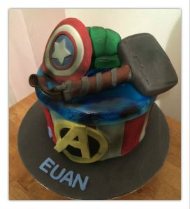 Super Hero cakes - captain america cakes - thor cakes - hulk cakes - birthday cakes - blacks creative cupcakes
