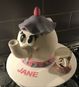 Beauty and the beast - teapot cake - cup - birthday cakes - any occasion cakes - local cake maker - berwick upon tweed