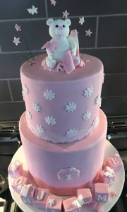 teddy bear cake - christening cakes - cake maker berwick upon tweed
