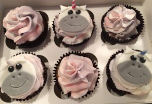 Unicorn cupcakes - any design cupcakes - berwick upon tweed
